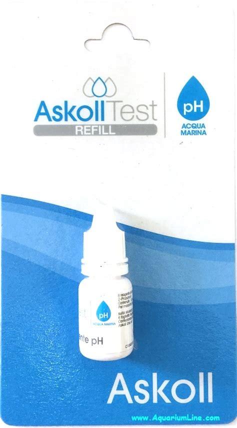 test acquario marino askoll test refill ph marino ricarica per test ph