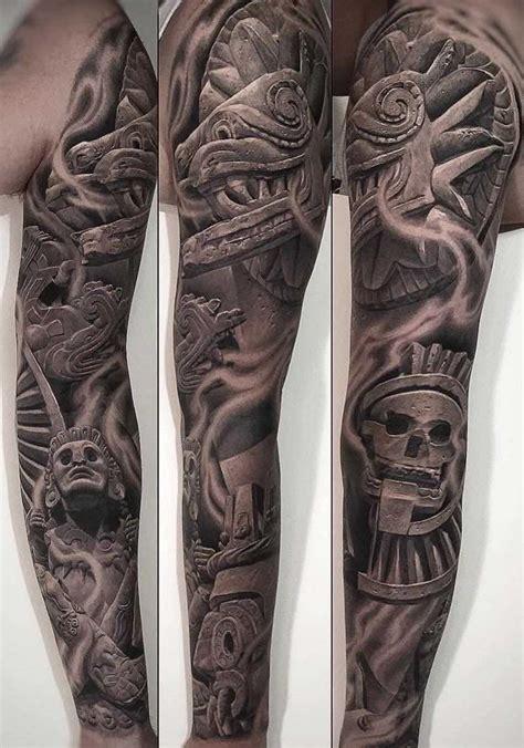 quarter sleeve aztec tattoo 50 of the best aztec tattoos tattoo insider