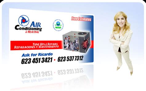 Free Air Conditioning Business Card Templates by Free Air Conditioning Business Cards Gallery Card Design