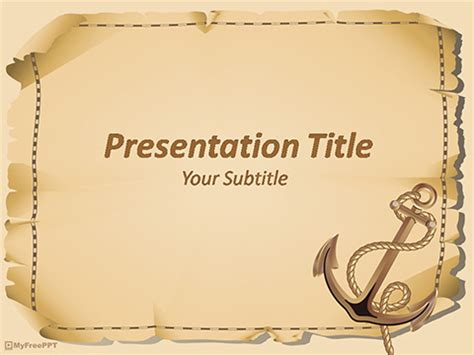 Free Nautical Powerpoint Templates Myfreeppt Com Pirate Powerpoint Template