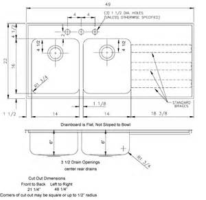 54 Double Sink Bathroom Vanity Ada Compliant Sinks With Drainboards 18 Gauge Stainless Steel