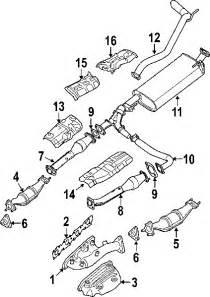 2005 Nissan Xterra Exhaust System Diagram Nissan 20100zl00a Genuine Oem Muffler Pipe Ebay