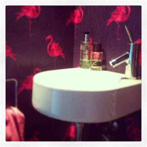 downstairs toilet wallpaper flamingo bathroom inspiration pinterest downstairs toilet