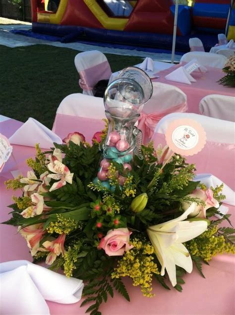 arreglos de mesa para bautizo con flores centro de mesa para bautizo o primera comuni 243 n arreglos