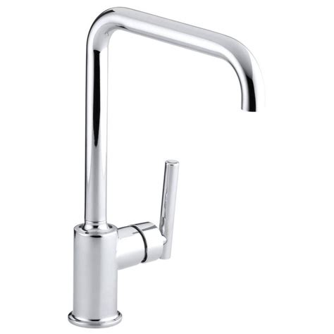 shop kohler purist polished chrome 1 handle high arc
