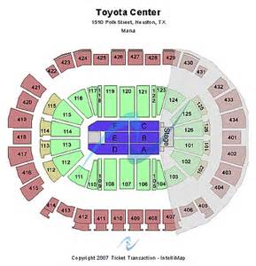 Toyota Center Seating Toyota Center Detailed Seating Map
