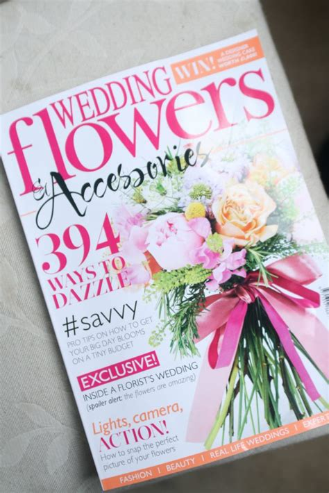 flower wedding magazine featured in wedding flowers accessories magazine liberty blooms