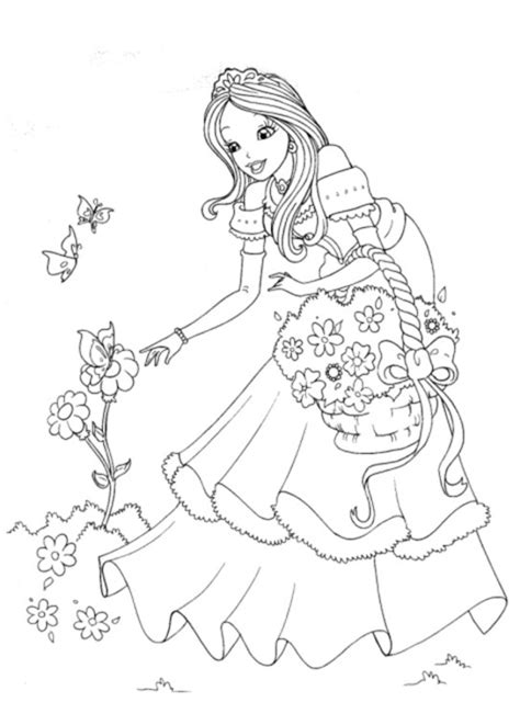 Princess Coloring Pages For Kids Coloring Ville Princesscoloring Pages Printable