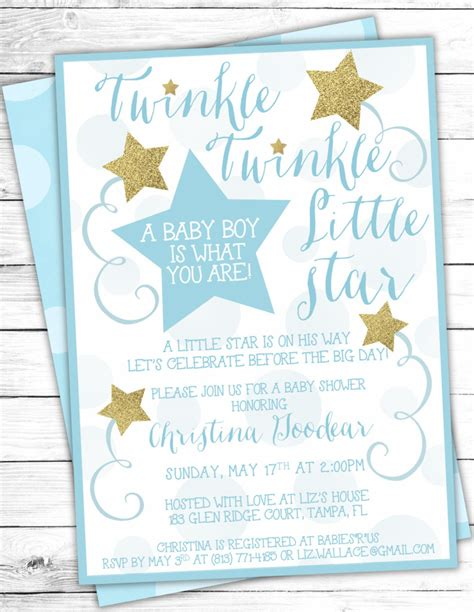 Twinkle Twinkle Card Templates To Print by Twinkle Twinkle Baby Shower Invites Twinkle