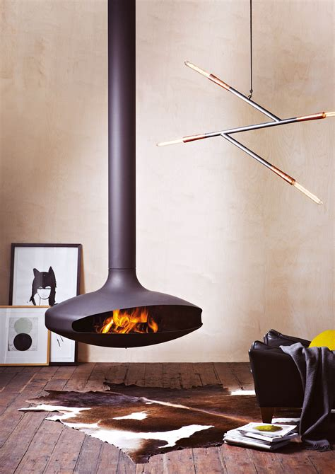 Suspended Fireplace by Gyrofocus World S Most Iconic Suspended Fireplace