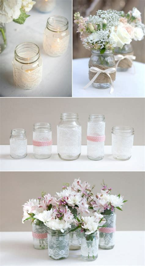 wedding table decoration ideas with jars top 15 most creative diy jar craft ideas s