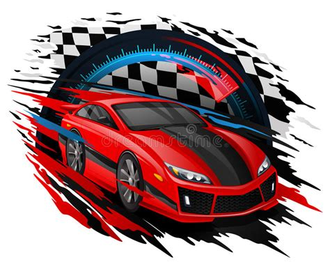 vector concept  racing car set   speedometer
