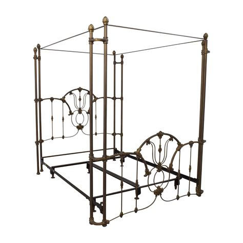 metal queen bed frame 60 off bronze metal canopy queen bed frame beds