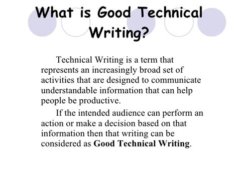technical write up template qualities of technical writing with exles 8