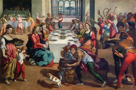 Wedding In Cana Painting by Andrea Boscoli Wedding At Cana Painting Wedding At Cana