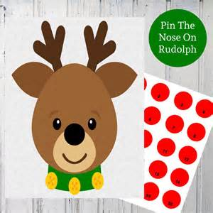 items similar to pin the nose on rudolph reindeer