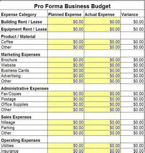 Business Plan Expenses Template by Pro Forma Budget Jpg 710 215 749 Pixels Salon Ideas