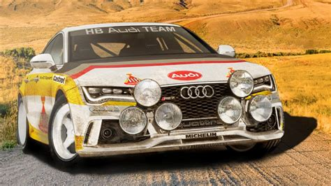 Groep B Rally Auto S by Audi Rs7 Group B Rally Car Rendered Top Gear
