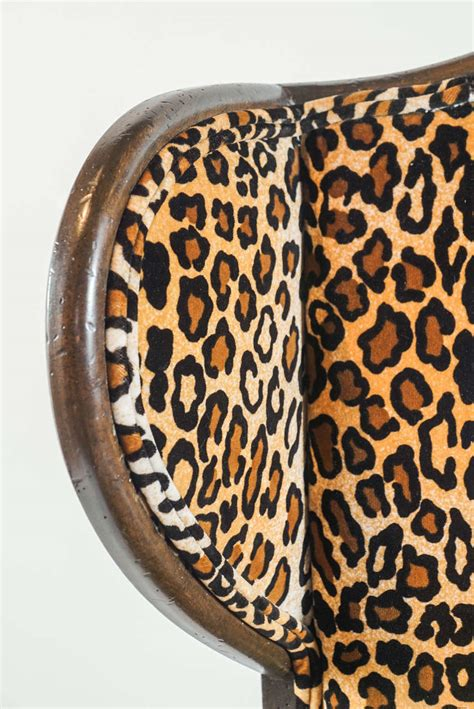 leopard print recliner chair leopard print wingback chair at 1stdibs