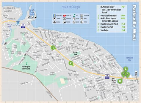 printable map vancouver island central vancouver island map page parksville map and