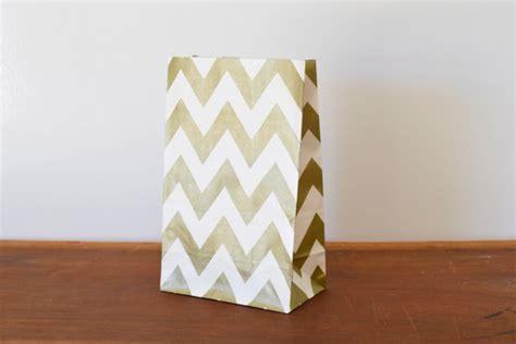 Gold Chevron Flat Favor Bag Paper Bag 12 metallic gold chevron paper bags gold by littlebilliebluebird