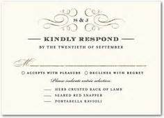 template for rsvp cards dinner 1000 images about for the wedding on response