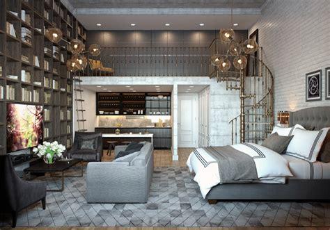 Loft Studio Apartment with Mezzanine & Gorgeous Library