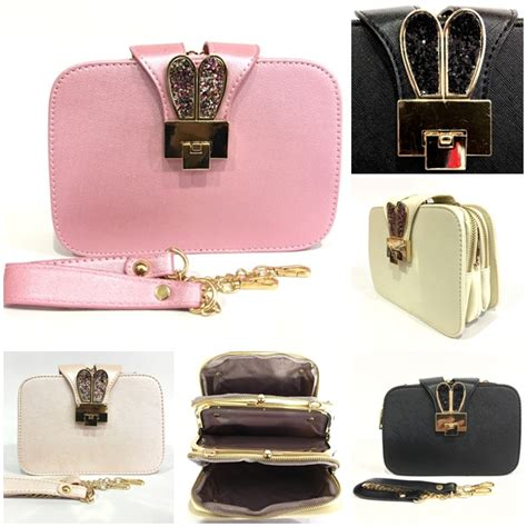 B2808 Tas Import jual b2808 rosegold clutch bag import grosirimpor