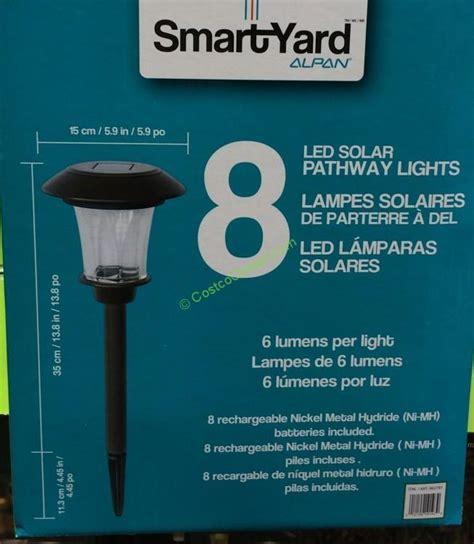 smartyard led solar pathway lights smartyard solar led 13 8 h pathway lights 8 pack