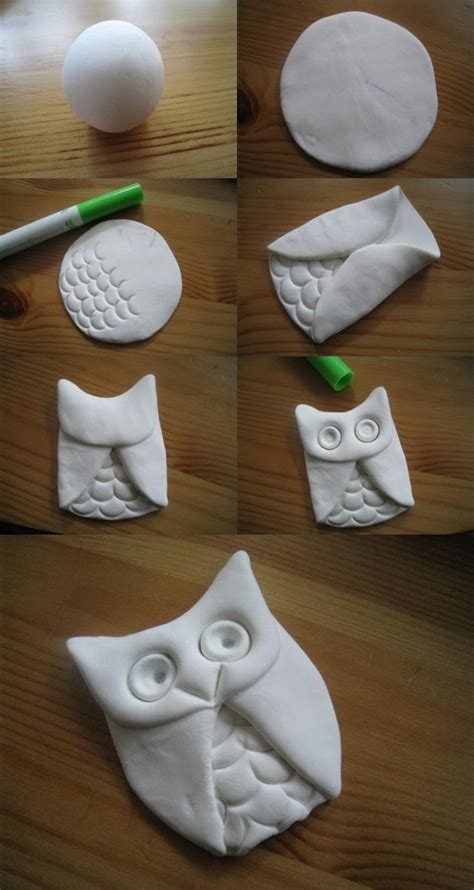 diy clay owl fabdiy