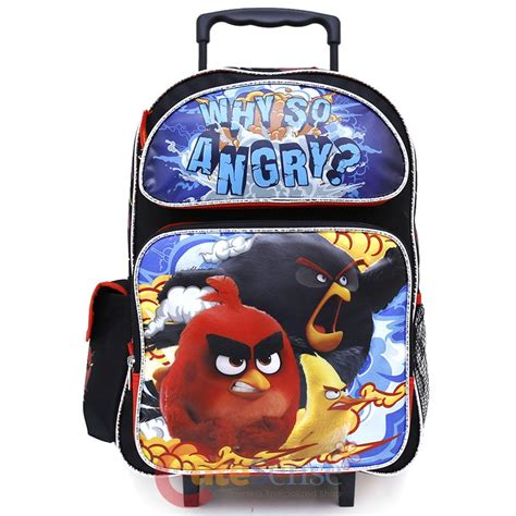 Backpack Trolly Angry Bird angry birds large school roller backpack 16 quot trolley