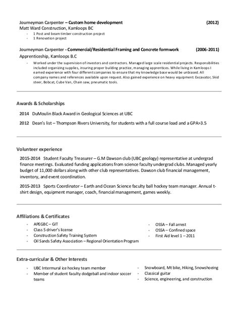 resume affiliations and interests 28 images resume sle