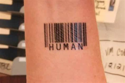 barcode tattoos for men 15 unique barcode designs