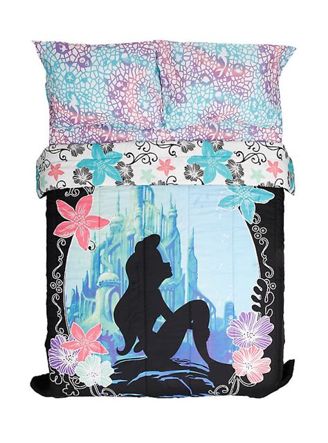 ariel bedroom set disney the little mermaid ariel silhouette full queen
