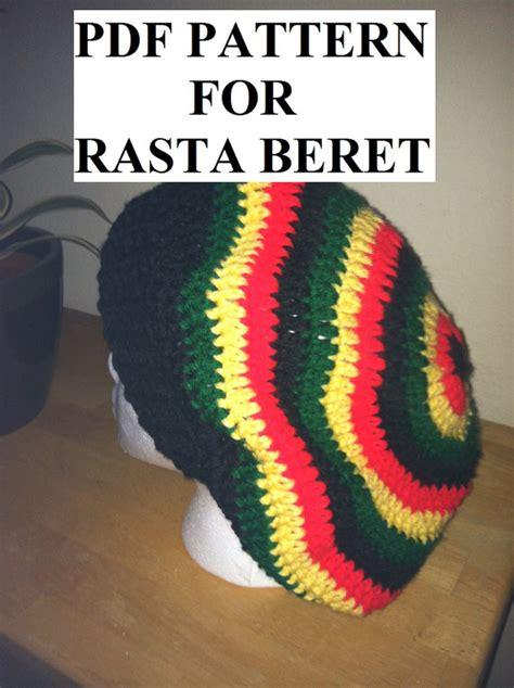 rasta beanie knitting pattern pdf pattern for rasta or solid slouchy beret hat beanie