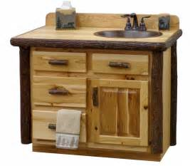 rustic hickory log vanity log bathroom cabinets