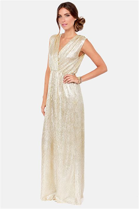 Maxi Dress Tha 4643 all that shimmers is gold light gold maxi dress maxi dresses gold and wedding