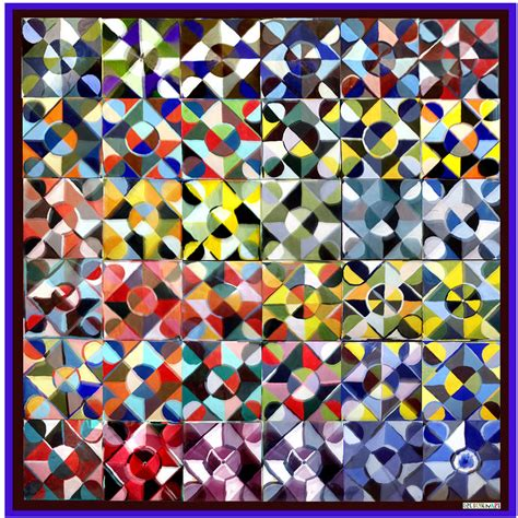 patchwork quilt painting by gretchenart fineart