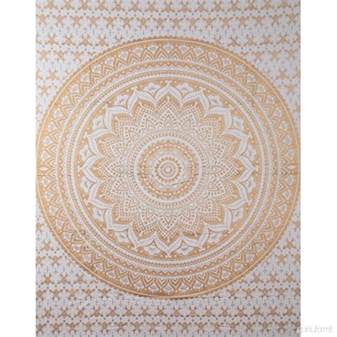 Tapisserie Murale Tissu by Tenture Murale Hippie Or Mandala Tapisserie Mural Ombre