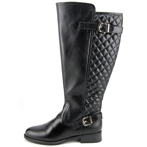 wide width womens boots white mountain logical wide calf leather black knee