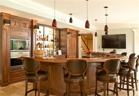 Kitchen Display Cabinets For Sale curved family room bar traditional home bar columbus