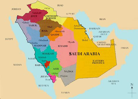 saudi arabia political map saudi arabia map political regional maps of asia