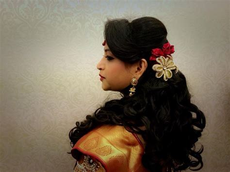 hairstyle design for reception indian bride s bridal reception hairstyle by swank studio