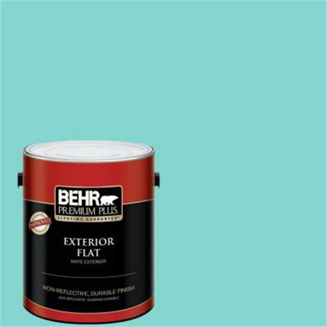 behr premium plus 1 gal m180 1 island hopping flat exterior paint 405001 the home depot