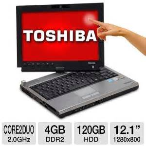 toshiba portege m700 tablet pc intel 2 duo 2 0ghz 4gb ddr2 120gb hdd dvdrw windows 7