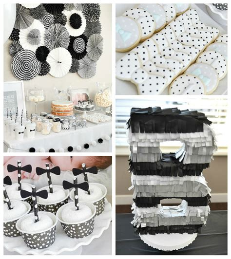 party themes with black kara s party ideas black white bow tie themed birthday party