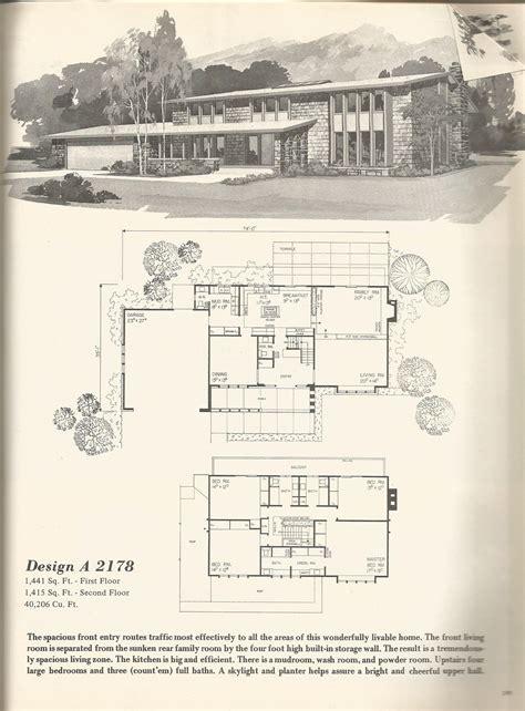 1970s house plans vintage house plans 2178 antique alter ego