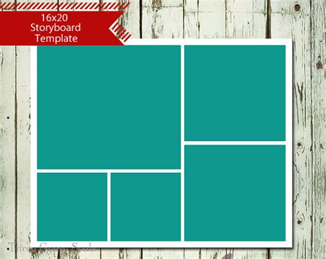 photo templates for 16x20 storyboard collage template layered psd collage