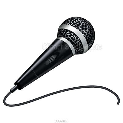 microphone clipart microphone clip handheld black and white mic graphic