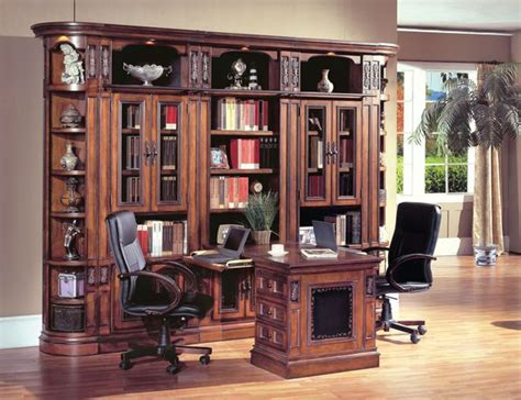Davinci Office by The Davinci Library Wall With Peninsula Desk Ideas For
